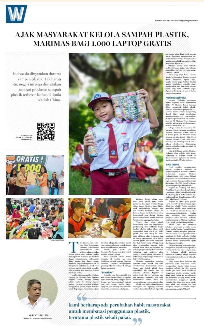 marimas ecobrick rubrik koran kompas